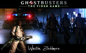 Ghostbusters Wallpaper Winston by MartynTranter