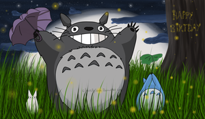 .:Totoro:. Happy Birthday by Angelbydeath