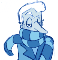 Snow Miser- Scarf by Greer-The-Raven