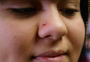 Nose Peircing by Stephanie by SmilinPirateTattoo