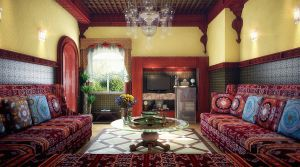 Moroccan living room-the full scene version- by M-Salman