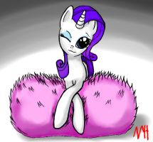 Rarity and Her Giant Fluffy Pillow by NeoHooves