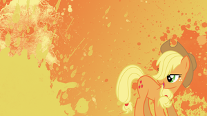 Applejack Splatter Wallpaper by brightrai