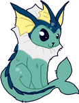 Vaporeon by DemonicShadow91