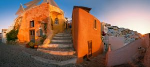 Oia on sunrise by AlexGutkin
