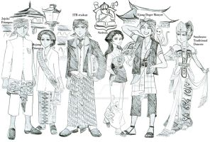 Bandung Citizens - 19th century by dinosaurusgede