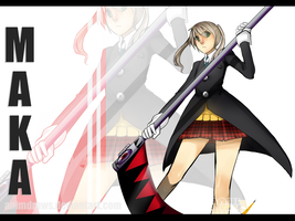 Maka and Soul (finished) by Animdraws
