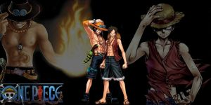 One Piece: Luffy and Ace by SilentSDesigns