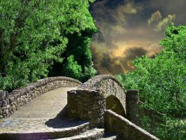 Bridge stock 1 background by AngelaHolmesStock