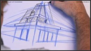 Learn how to draw city buildings 016 by drawingcourse