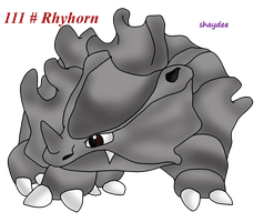 Rhyhorn by The-Real-Shaydee