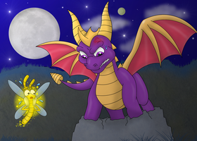 Spyro's Fracture Hills Troubles (Redraw) by Crafty-Cobra