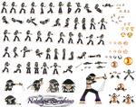 Natalyia Boreshino barefeet Sprite sheet by Darkburster1