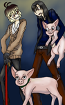 Vampires and Pigs by SigwardtheLizard