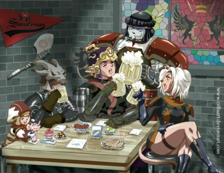 In the tavern by CellsArt