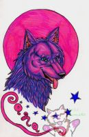 Pink Moon Badge by Rianne2k8