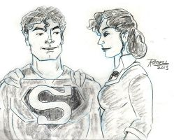 Classic Superman and Lois Lane by fmvra1s