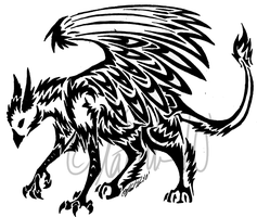 Gryphon Tribal by KittyKatOfHyperness
