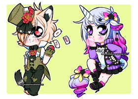 auction prize - sketch chibis for Kirana-chan by NauticalSparrow