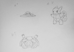 Squirtle Wartortle Blastoise by gir-is-me