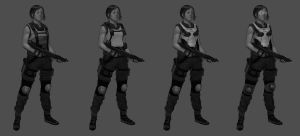 Swat Girl Character Study by SLabreche