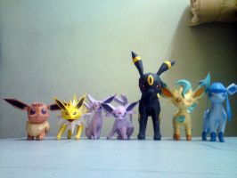 My Current Eevee Collection by riolushinx