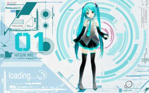 Techno Miku Wallpaper by FinnTHidayat