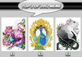 My Top 3 of 2012 by Mareve-Design