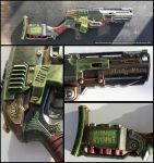 Nerf ZombieStrike Sledgefire paintjob 001 by flaming-trout