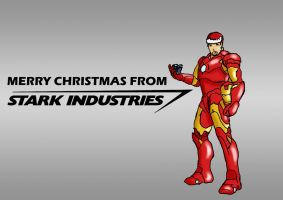 Stark Industries Christmas card by mysteriousshamrock