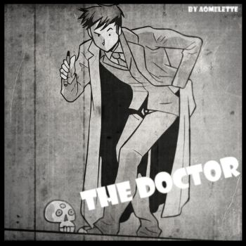 Tenth Doctor - 1930s Cartoon Style by Aomelette