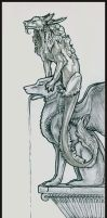 Sketch:Dragon on Gargoyle Full by Dreamspirit