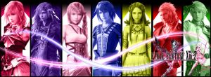 Final Fantasy XIII-2 Main Characters by Xinahs