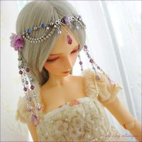 OOAK Lavender Rozsa Headdress by miakyou