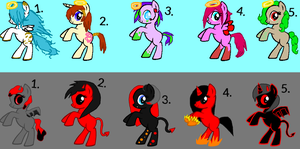 Angel and Demon pony adopts by TwilightLuv10