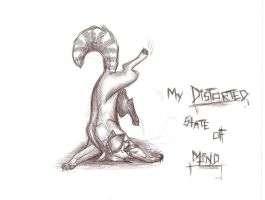 My DISTORTED state of mind. by Feathersongwolf