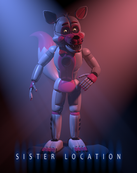 [C4d] Funtime Foxy by LuckyRabbit31