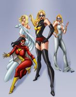 Marvel Divas by ChrisShields
