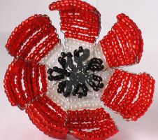 Victorian Beaded poppy by Craftcove