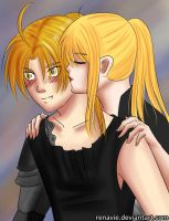 Edward and Winry by Renavie