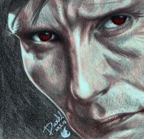Mads Mikkelsen / Hannibal by Yu-Ominae666