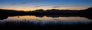 Sunset on the Swartvlei Lagoon by eRality