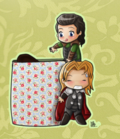 Loki is stealing your cookies (and other food) by ringosdiamond