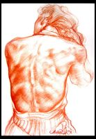 Red Charcoal Life Study by MalachiDesigns
