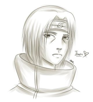 Shaded Sketch- Itachi by Ita-Freak