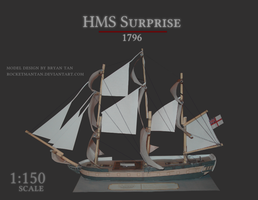 HMS Surprise Paper Model by RocketmanTan