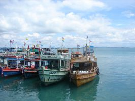 Thai boats by queenofcatz