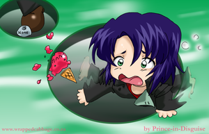Chibi Athrun Trips by Prince-in-Disguise