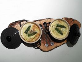 Asparagus in cocotte by kivrin82