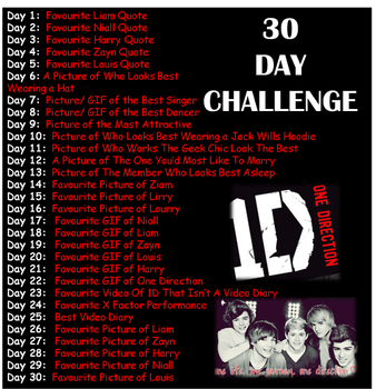1D challenge by OneDirectionsMofo